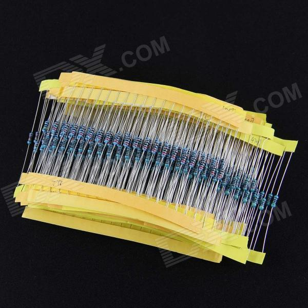 1/4W Ceramic Metal Film Resistors Set - Blue + Silver (600 PCS)