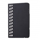 Protective Bamboo Weaving Grain Case Cover Stand for IPAD AIR - Black