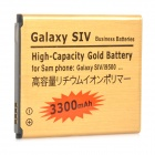 "Replacement 3.8V ""3300mAh"" Lithium Battery for Samsung Galaxy SIV / i9500 - Golden + Black"