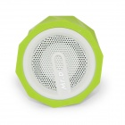 D97B Portable Wireless Bluetooth v3.0 Stereo Audio Speaker w/ 3.5mm Aux-In, TF, Mic - Green