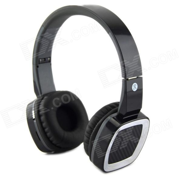 D-430 Wireless Stereo Headphone MP3 Player w/ FM / TF - Black + Silvery White ks 508 mp3 player stereo headset headphones w tf card slot fm black