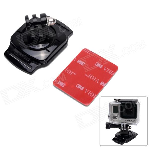 Fat Cat 360 Rotation Helmet Mount w/ 3M VHB Sticker for Gopro Hero 4/ 3+/3/2/1/SJ4000 - Black + Red цена и фото