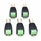 LSON LS336 High Quality BNC Plug Connector - Black + Silver + Green (5 PCS)