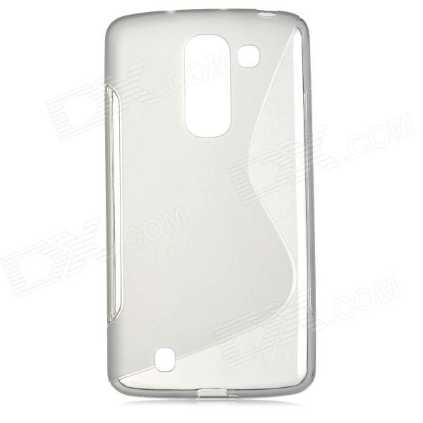 ''S'' Shaped Anti-skid Protective TPU Back Case for LG optimus Gpro 2 / LG P725 - Grey yi yi s shaped anti skid protective tpu back case for sony xperia e translucent grey