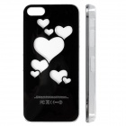 Love Pattern LED Flash Light Color Changing Protective ABS Back Case with Battery for IPHONE 5 / 5S
