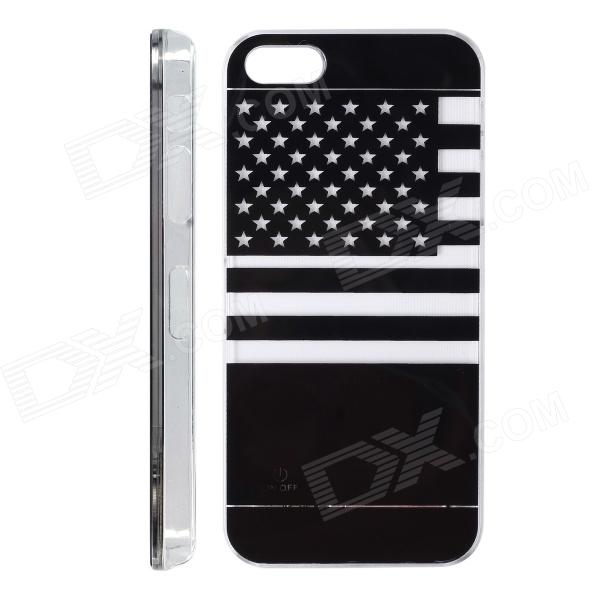 American Flag Pattern LED Flash Color Changing Protective ABS Back Case for IPHONE 5 / 5S zh01 good luck dragon pattern led flash light color changing protective back case for iphone 4 4s