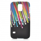 Meteor Pattern Protective Silicone Back Case for Samsung Galaxy S5 - Black + Multi-colored