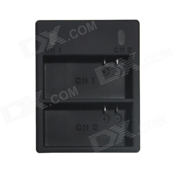 HighPro Super Mini Dual-Slot Battery Charger for GoPro Hero 3 / Hero 3+ - Black