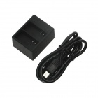 Super Mini Dual-Slot Battery Charger for GoPro Hero 3 / 3+ - Black