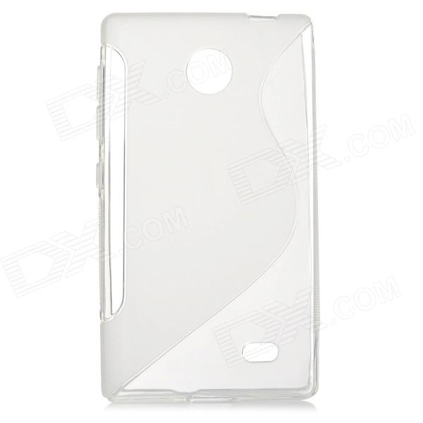 ''S'' Shaped Protective TPU Back Case for Nokia Andriod X - Transparent