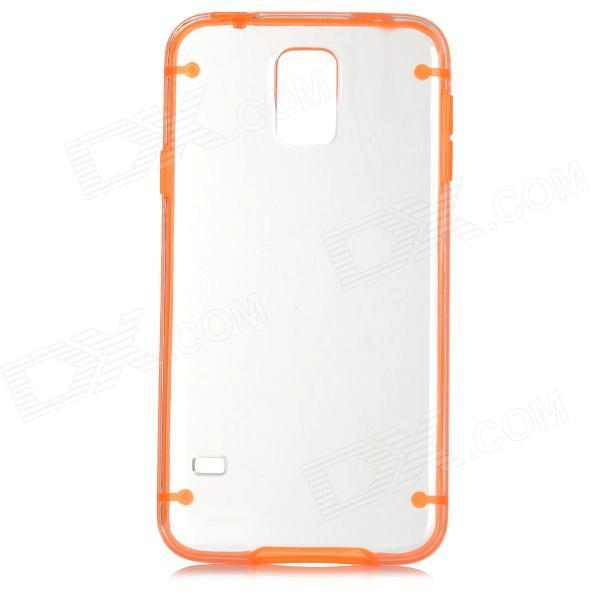 Protective Plastic + TPU Back Case for Samsung Galaxy S5 - Orange + Transparent аксессуар чехол samsung galaxy a3 2017 cojess tpu 0 3mm transparent