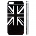 UK Flag Pattern LED Flash Color Changing Protective ABS Back Case for IPHONE 5 / 5S - Black