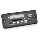 "LSON 1.5"" LED Car MP3 Module Board w/ USB / SD / MMC / FM + Remote Control - Black"