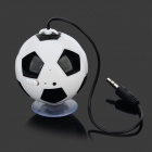 Cute Football Style Wired Speaker w/ Suction Cup for IPHONE 4S / 5S / iPAD 4 - White + Black