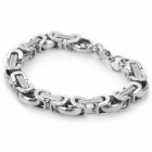 SHIYING SL00090 316L Stainless Steel Bracelet for Men - Silver