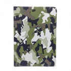 Protective Flip-Open PU + ABS Case w/ Stand for IPAD AIR - Camouflage Green