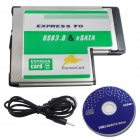 WBTUO LT236 Notebook Express To USB 3.0 Card + eSATA 54MM Express Card - Silver + Green