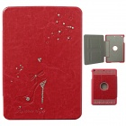 Diamond Protective PU Leather Case for IPAD MINI 1/2 - Red