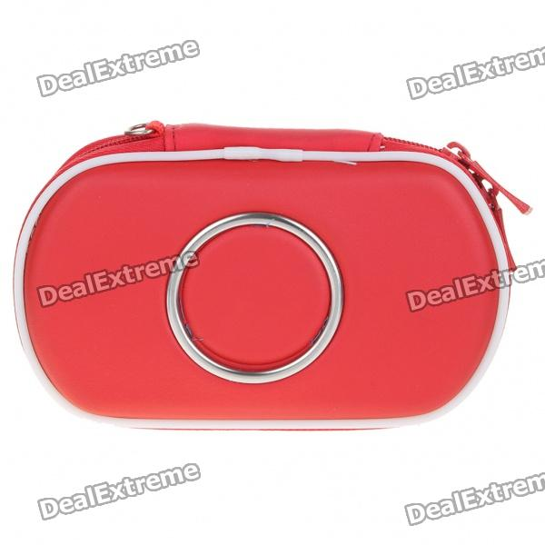 Hard Protective Carrying Case with Carabiner Clip for PSP Go (Red)