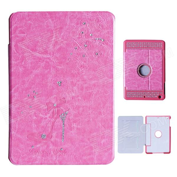 Fashion Diamond Protective PU Leather Case for IPAD MINI 1/2 - Deep PinkCases for Ipad<br>Color Deep Pink Quantity 1 Piece Material PU Shade Of Color Pink Compatible Models IPAD MINI 2(IPAD MINI WITH RETINA DISPLAY)IPAD MINI (1ST GENERATION) Style Flip Open Design Jewel EncrustedWith StandCard Slot Auto Wake-up / Sleep Yes Other Features Except for the basic function that is to protect your device from scratches dust and shock and high quality diamond-design appears that your device is a perfect and wonderful art. Packing List 1 x Case<br>