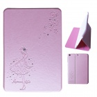 Shining Diamond Protective PU Leather Case for IPAD MINI 1/2 - Pink