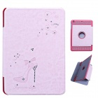 Fashion Diamond Protective PU Leather Case for IPAD MINI 1/2 - Pink