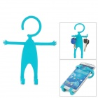 TZ-SJ001QL Multifunction Universal Human-Style Silicone Cellphone Holder - Aquamarine