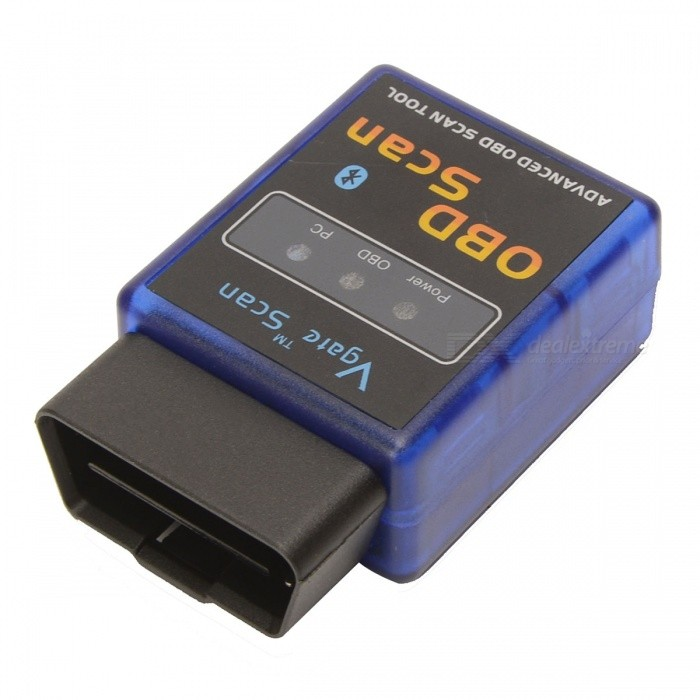 Bluetooth OBD II Car Diagnostic Scanner - Blue + BlackCode Readers and Scan Tools<br>Form  ColorBlue + Black + Multi-ColoredBrandN/AModelN/AQuantity1 DX.PCM.Model.AttributeModel.UnitMaterialABSFunctionRead trouble codes,Check Engine Light (MIL),Clear trouble codes,Display current sensor data,Airbag ScanCompatible MakeOthers,Cars meets OBD II protocolDiagnose Interface16pinProtocols SupportedISO15765-4 (CAN),ISO14230-4 (KWP2000),ISO9141-2,J1850 VPW,J1850 PWMSystem SupportedCar detection and diagnosticSupported LanguagesEnglishCable LengthNo DX.PCM.Model.AttributeModel.UnitWorking Voltage   12 DX.PCM.Model.AttributeModel.UnitOther FeaturesWorking current: 100mA; Transmission method: Bluetooth; Software version: Scantool net 113VersionOthers,N/AReadparam OthersWireless BluetoothYesSoftware Platform SupportedOthers,Scantool net 113 Output ProtocolN/ABaud RateN/A DX.PCM.Model.AttributeModel.UnitPacking List1 x OBD II scanner 1 x CD<br>