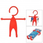 TZ-SJ001RD Multifunction Universal Human-Style Silicone Cellphone Holder - Red