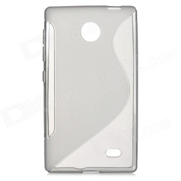 ''S'' Shaped Protective TPU Back Case for Nokia Android X - Grey