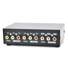 AV Video Audio Switcher Sharer Converter - Black (2-In / 1-Out)