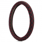38cm Four Seasons Car Steering Wheel Cover - Black + Red