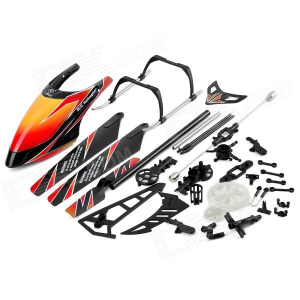 WLtoys KV912-0001 DIY V912 R / C Helikopter Toy Deler Set - Sort + Orange