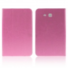ENKAY ENK-7047 3-Fold Protective PU Leather Case Stand for Samsung Galaxy Tab 3 Lite T110 - Pink