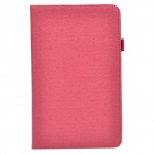 Handheld 2-fold Protective PU Leather Case Cover Stand w/ Card Slot for Lenovo Miix2 - Deep Pink