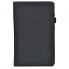 Handheld 2-fold Protective PU Leather Case Cover Stand w/ Card Slot for Lenovo Miix2 - Black
