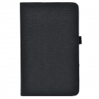 Handheld 2-fold PU Leather Case Cover Stand w/ Card Slot for Asus VivoTab Note 8 (M80TA) - Black