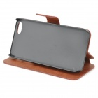 HuaLaiShi beskyttende PU skinn + ABS etui med står for IPHONE 5 / 5S - Brown + Black