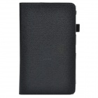 Handheld 2-fold Protective PU Leather Case Stand w/ Card Slot for Samsung Galaxy Tab Pro T320 -Black