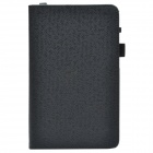 Handheld 2-fold PU Leather Case Cover Stand w/ Card Slot for Asus PadFone Mini - Black