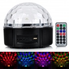 Multifunction LED Magic Ball Light Remote Control Speaker w/ TF Slot, U Disk, FM Radio