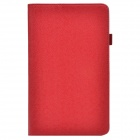 Handheld 2-fold Protective PU Leather Case Stand w/ Card Slot for Samsung Galaxy Tab Pro T320 - Red