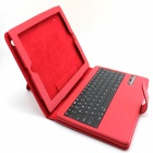 Glyby 140327zl-1 Bluetooth V3.0 83-Key Keyboard PU Leather Case Stand for IPAD 2 / 3 / 4 - Red