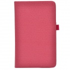 Handheld 2-fold PU Leather Case Cover Stand w/ Card Slot for Asus VivoTab Note 8 (M80TA) - Deep Pink