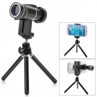 zoom lens 10X Mobile Telephoto Lens w/ Mini Tripod - Black + Silver