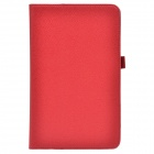 Handheld 2-fold PU Leather Case Cover Stand w/ Card Slot for Asus VivoTab Note 8 (M80TA) - Red