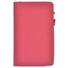 Handheld 2-fold PU Leather Case Cover Stand w/ Card Slot for Asus PadFone Mini - Deep Pink