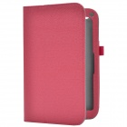 Handheld 2-Fold Protective PU Case Cover Stand w/ Card Slot for Toshiba Encore - Deep Pink