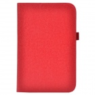 Handheld 2-Fold Protective PU Case Cover Stand w/ Card Slot for Toshiba Encore - Red