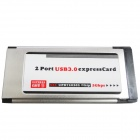 WBTUO LT402 Notebook SuperSpeed ​​5Gbps Express 2-Port USB 3.0 NEC 34MM Expansion Card - Argent